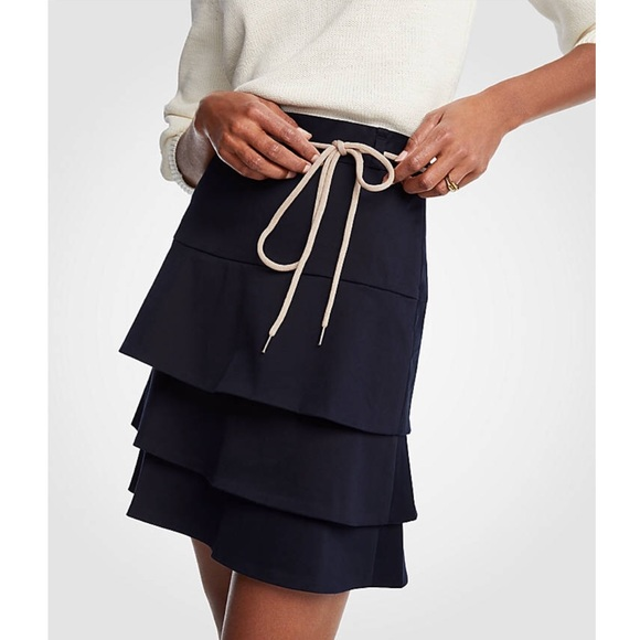 Ann Taylor Dresses & Skirts - Ann Taylor Loft - Tiered Tie A-line Skirt